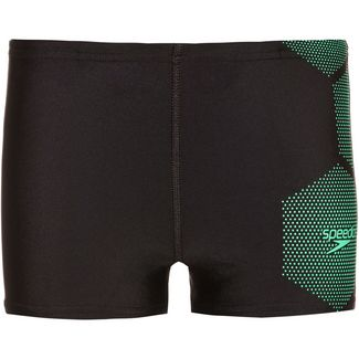 SPEEDO Tech Placement Badehose Kinder black-green glow