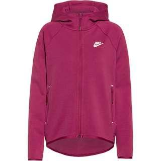 Nike Tech Fleece Sweatjacke Damen mulberry rose-mulberry rose-white
