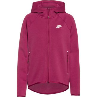 Nike Tech Fleece Sweatjacke Damen mulberry rose-mulberry rose-white