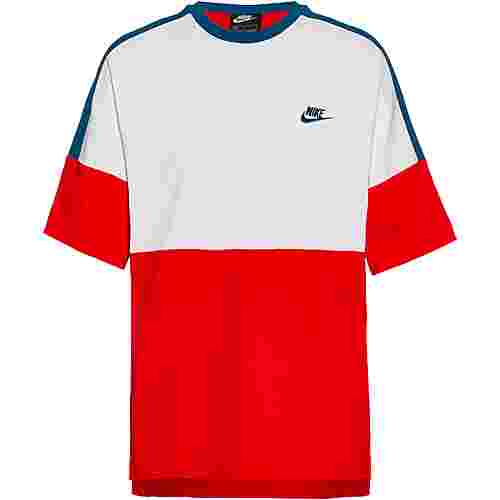 Nike NSW T-Shirt Herren university red-white-industrial blue