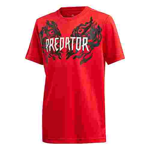 adidas Predator Graphic T-Shirt T-Shirt Kinder Rot