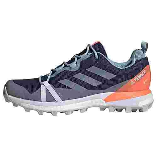 adidas GTX® TERREX Skychaser LT GORE-TEX Wanderschuh Wanderschuhe Damen Tech Indigo / Grey Three / Signal Coral