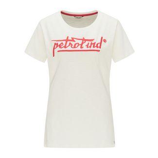 Petrol Industries Printshirt Damen Whisper White