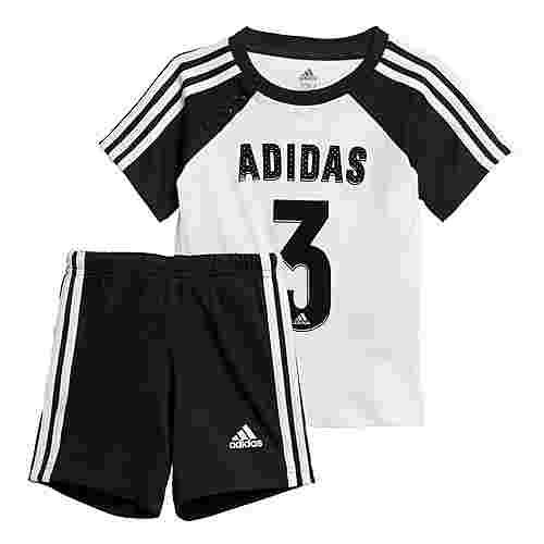 adidas Sport Sommer-Set Trainingsanzug Kinder White / Black