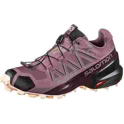 Salomon GTX® Speedcross 5 Trailrunning Schuhe Damen flint-black-bellini
