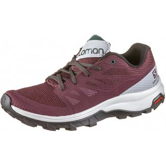 Salomon Outline Wanderschuhe Damen wine tasting-quarry-green gables