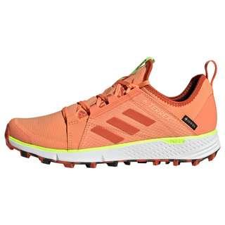 adidas GTX® TERREX Speed GORE-TEX Trailrunning-Schuh Trailrunning Schuhe Damen Amber Tint / Glory Amber / Signal Green