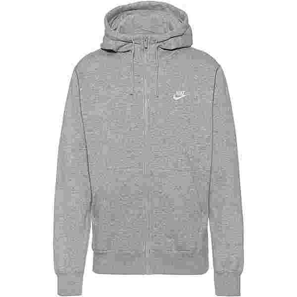 Nike NSW Club Sweatjacke Herren dk grey heather-matte silver-white