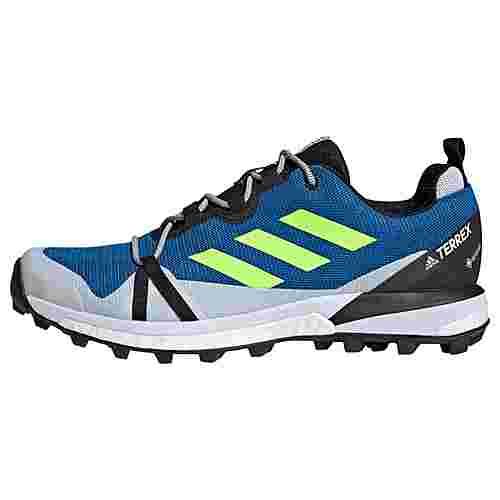 adidas GTX® TERREX Skychaser LT GTX Schuh Wanderschuhe Herren Glow Blue / Signal Green / Dash Grey