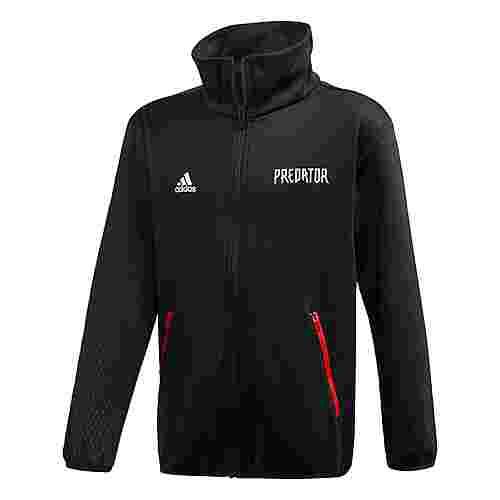 adidas Predator Trainingsjacke Sweatjacke Kinder Black / Vivid Red