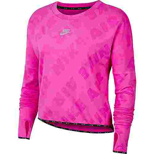 Nike Air Funktionsshirt Damen fire pink-reflective silver