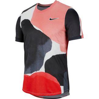 Nike Court Challenger Tennisshirt Herren gridiron-white-off noir
