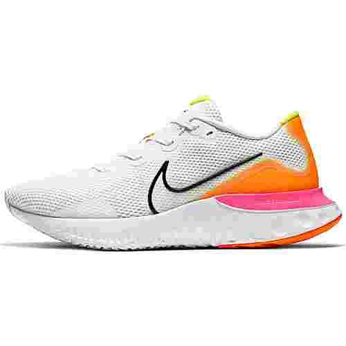 Nike Renew Run Laufschuhe Herren white-black-platinum tint-pink blast-lemon venom