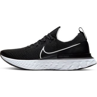 Nike React Infinity Run FK Laufschuhe Herren black-white-dk grey