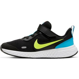 Nike Revolution 5 Laufschuhe Kinder black-lemon venom-laser blue