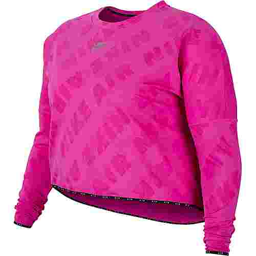 Nike Plus Size Funktionsshirt Damen fire pink-reflective silv