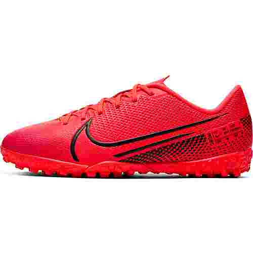 Nike JR MERCURIAL VAPOR 13 ACADEMY TF Fußballschuhe Kinder laser crimson-black-laser crimson