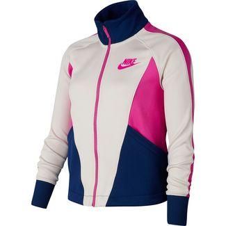 Nike Heritage Strickjacke Kinder lt orewood brn-blue void-fire pink