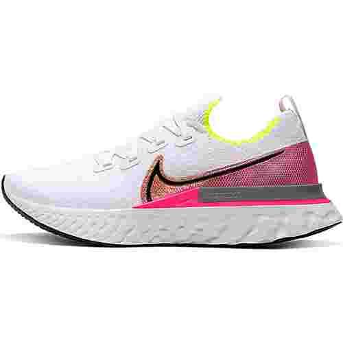 Nike React Infinity Run Laufschuhe Damen platinum tint-black-pink blast