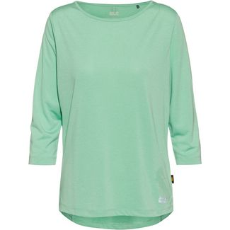 Jack Wolfskin Pack and Go JWP 3/4 Funktionsshirt Damen pacific green