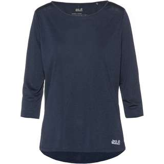 Jack Wolfskin Pack and Go JWP 3/4 Funktionsshirt Damen night blue