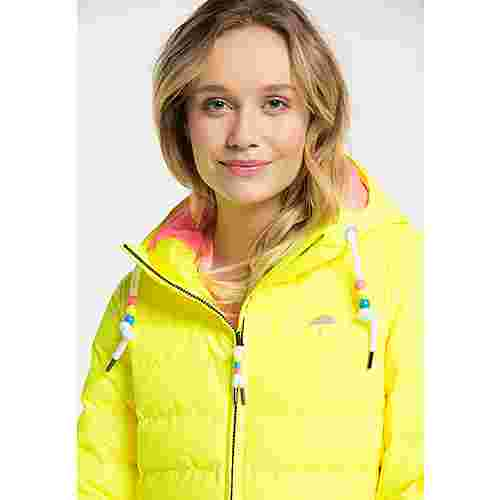 Schmuddelwedda Steppmantel Damen neon gelb