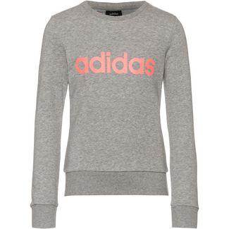 adidas YG E Lin Sweat Sweatshirt Kinder medium grey heather