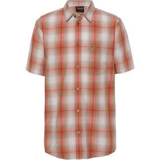Jack Wolfskin HOT CHILI Kurzarmhemd Herren saffron orange checks