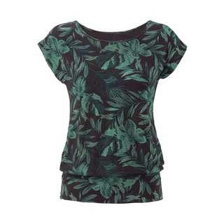 Lascana Printshirt Damen schwarz-grün