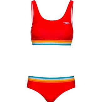 SPEEDO Bikini Set Damen lava red-orange fizz-mango
