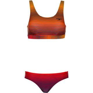 SPEEDO Bikini Set Damen sunstripe true navy-orange