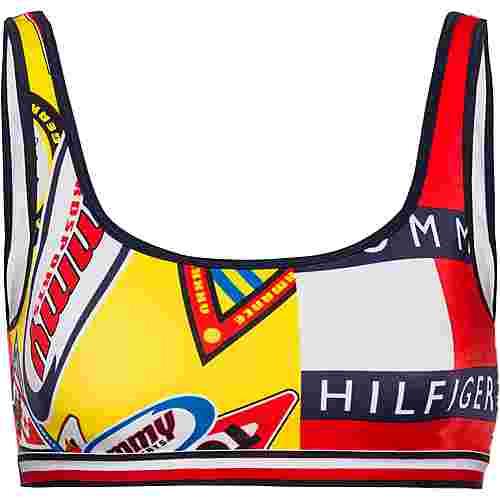 Tommy Hilfiger Bikini Oberteil Damen archive badge aop bold yellow