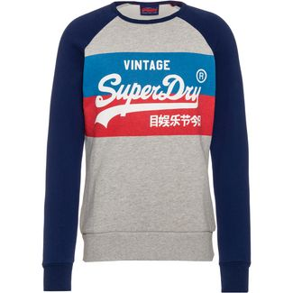 Superdry VL STORE COLOURBLOCK Sweatshirt Herren grey marl