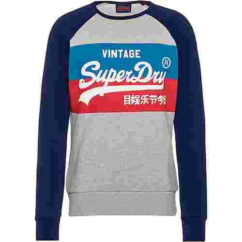 Superdry VL STORE COLOURBLOCK Sweatshirt Herren grey marl