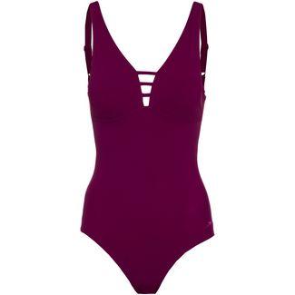 SPEEDO Schwimmanzug Damen deep plum