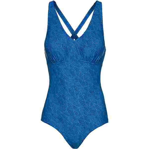 SPEEDO Schwimmanzug Damen millefeuille arabian night-wht