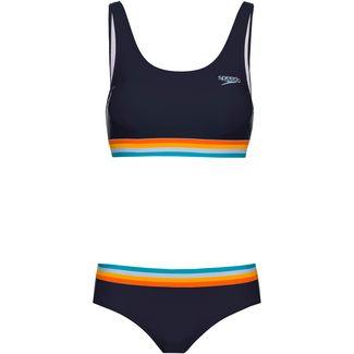 SPEEDO Bikini Set Damen true navy-orange fizz-mango