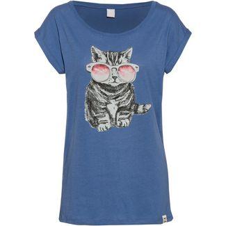 iriedaily Iriecat T-Shirt Damen dusty blue