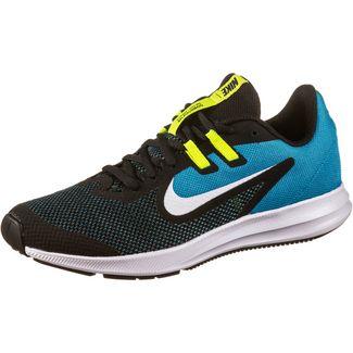 Nike Downshifter 9 Laufschuhe Kinder black-white-laser blue-lemon venom