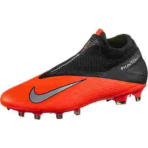 Nike PHANTOM VSN 2 PRO DF FG Fußballschuhe Herren laser crimson-metallic silver-black