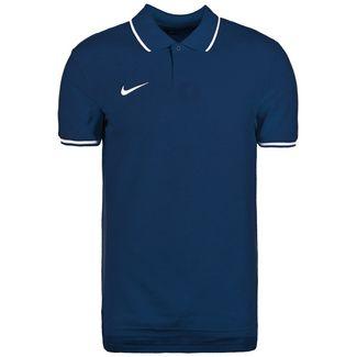 Nike Polo TM Club19 SS Poloshirt Herren dunkelblau / weiß