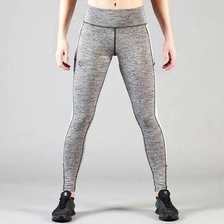 MOROTAI High Waist Mesh Frame Tights Leggings Damen Grau Melange / Weiß