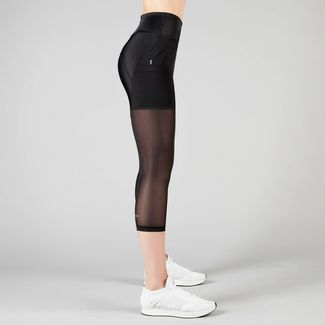 MOROTAI Performance Capri Mesh Tights 2.0 Leggings Damen Schwarz
