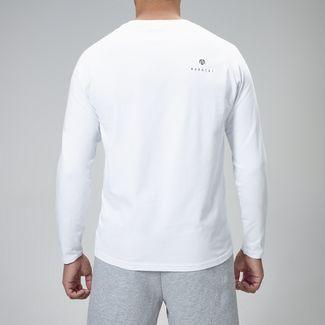 MOROTAI Premium Block Logo Longsleeve Langarmshirt Herren Weiß