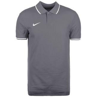 Nike Polo TM Club19 SS Poloshirt Herren dunkelgrau / weiß