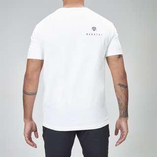 MOROTAI Premium Block Logo Shirt T-Shirt Herren Weiß