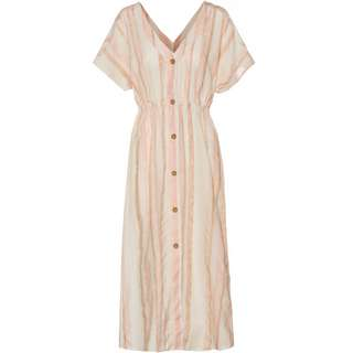 Roxy Kurzarmkleid Damen ivory cream nam nam stripes