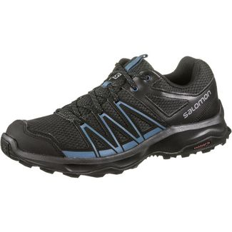 Salomon Leonis Wanderschuhe Herren phantom black indian teal
