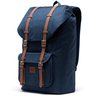 Herschel Rucksack Little America Daypack indigo denim crosshatch