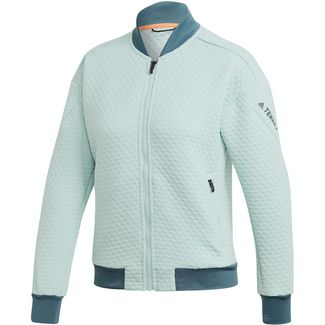 adidas Hike Fleecejacke Damen green tint